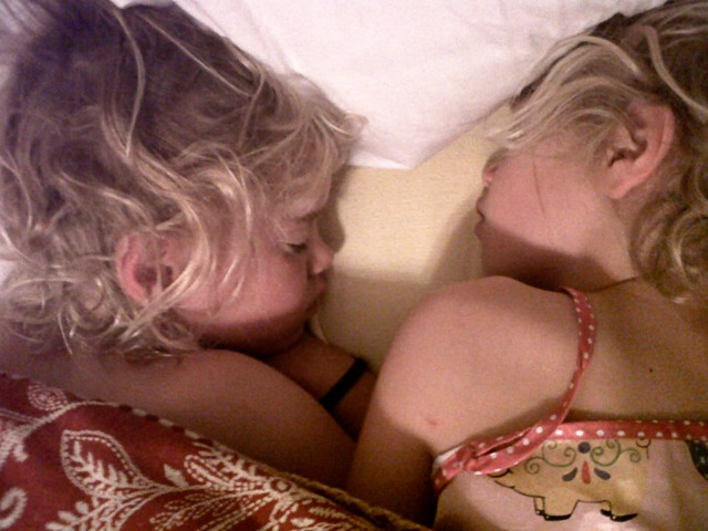 Girls asleep