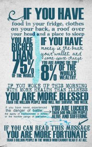 You Are More Fortunate Infograph