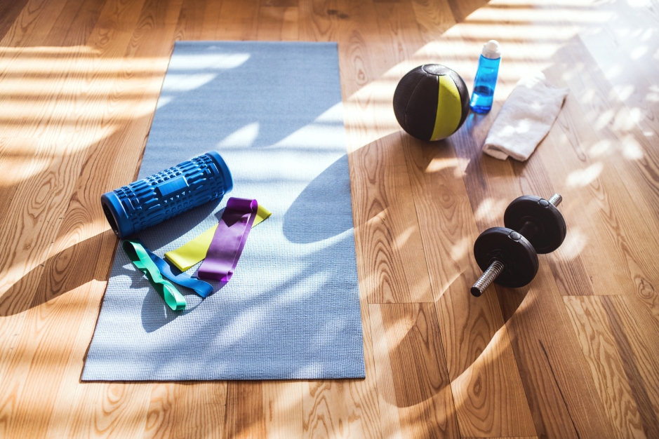 workout equipment at home