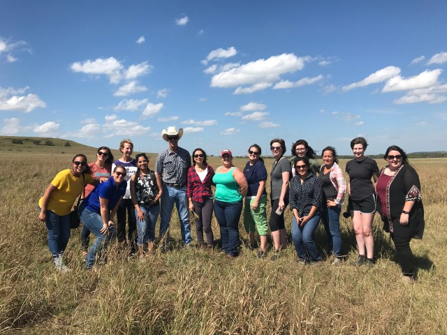 Kansas Farm Food Tour attendees in the Flint Hills